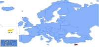location of Cyprus in Europe